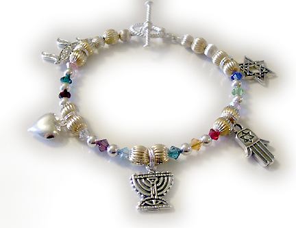 Handmade Chanukah Gift Ideas for Chanukah or Bat Mitzvahs or Bat Mitzvah 12 tribes bracelet