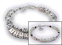 New Design! Noah Bracelet with Star of David and Family charms