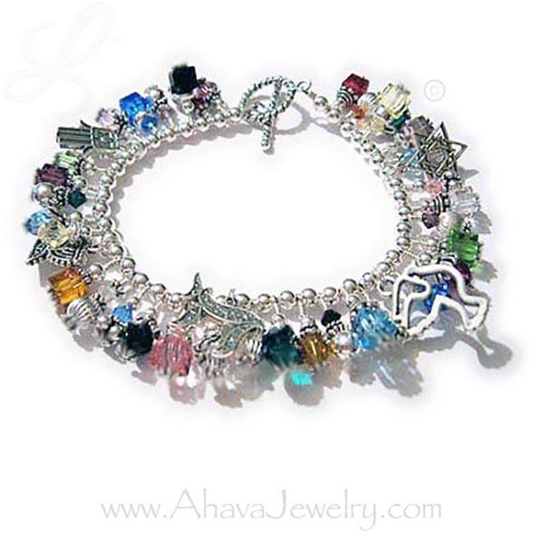 Chanukah gifts jewish charm bracelet hamsa menorah peace dove handmade chanukah gift ideas judiac charm bracelets jewish charm bracelet gift ideas for jewish moms negle Image collections