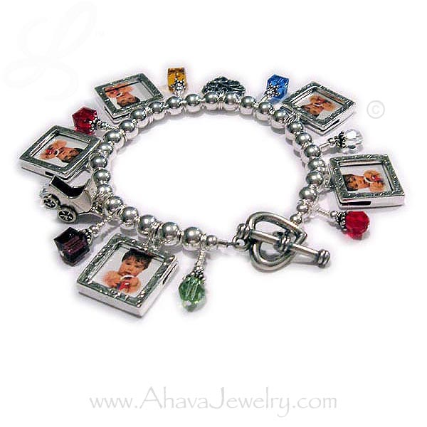 Judaic Photo Frame Charm Bracelet  AJ-CB10-build