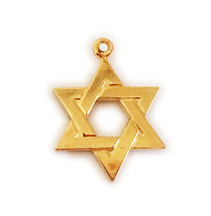 Gold Star of David Pendant for a Necklace