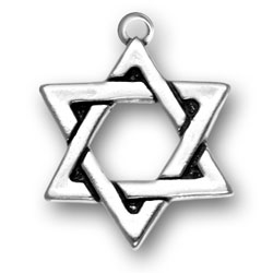 Large Sterling Silver Star of David Charm