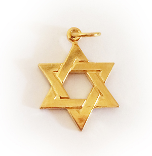 14k Gold-Plated Star of David Charm or Pendant