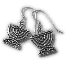 Judaic Menora Earrings
