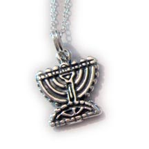 Judaic Menora Necklace